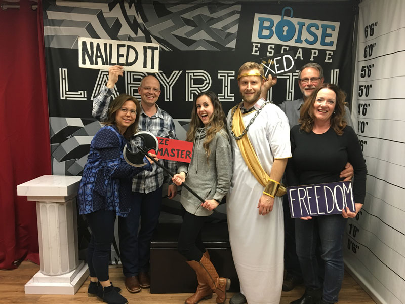 group at escape room
